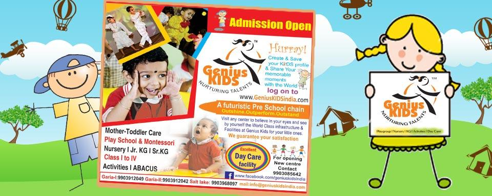 Admission Open for 2016-17 session at Genius Kids