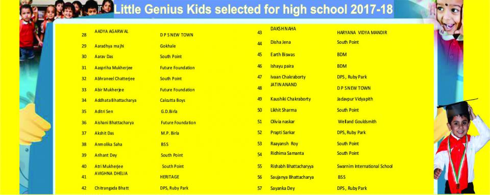 selected kids 2017-18 -2